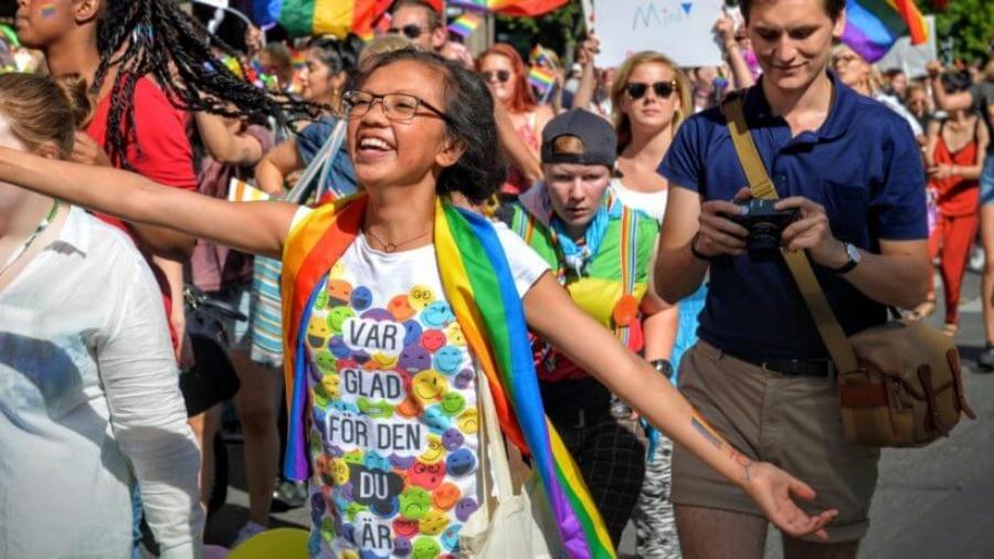 Happy people at Pride Parade (1)